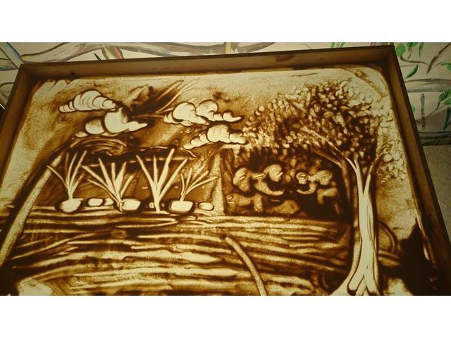 """Песочная анимация и рисование на песке - одно из любимейших занятий детей. НОУ Школа """"Экология и Диалектика"""""""